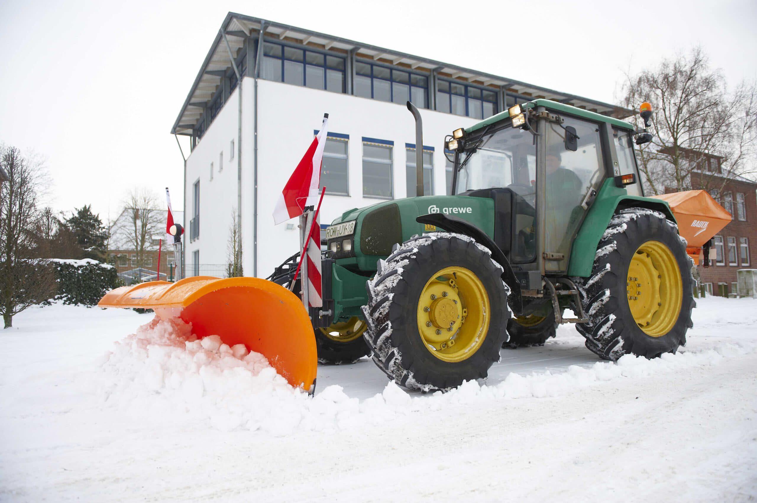 Der grewe Winterdienst im Einsatz